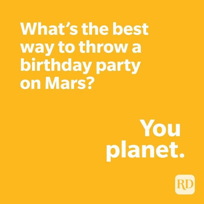 Mars joke on yellow