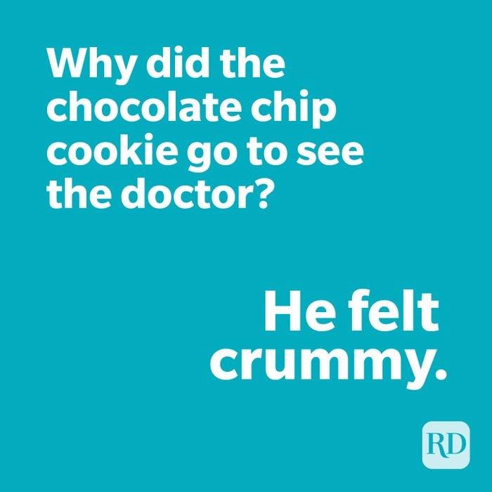 Cookie joke on blue