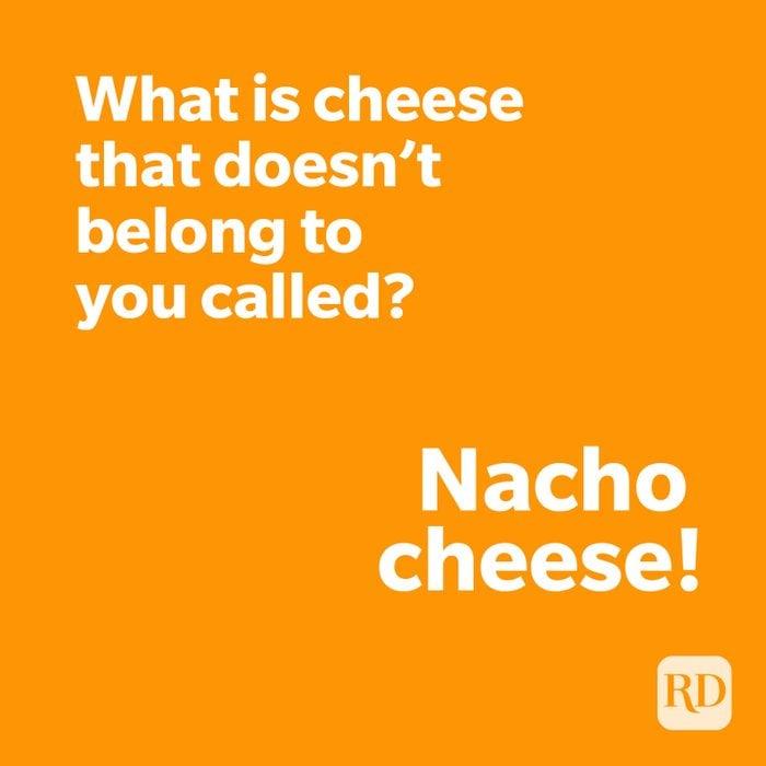 Nacho joke on orange