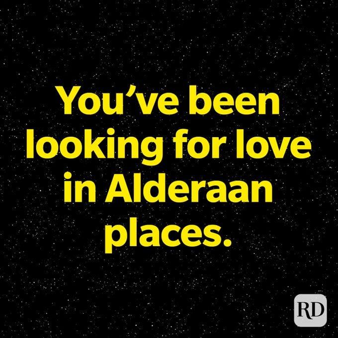 Looking For Love In Alderaan Places star wars pun