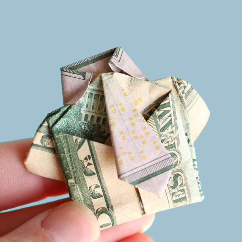 Cash origami for fathers day