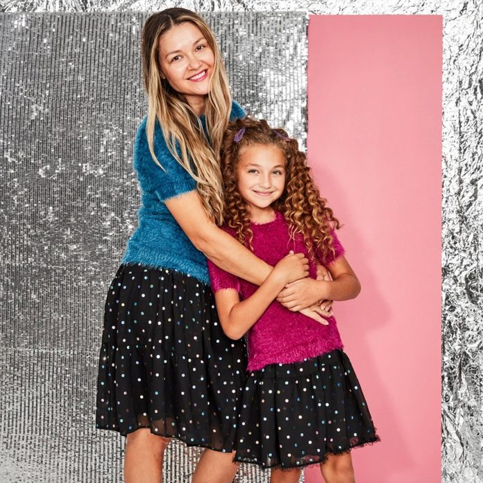 Polka Dot Party matching mother and daughter outfits