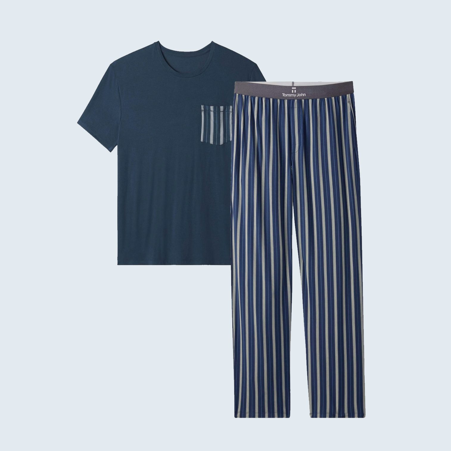 Tommy John Second Skin Pajama Pocket Tee and Pant Pack