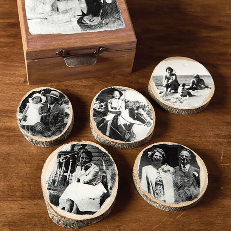 Photo coasters for Father's Day