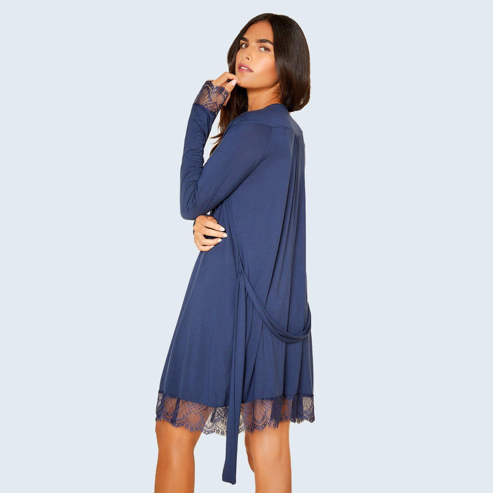 Cheyenne Sleep Wear Long Sleeve Robe from Cosabella
