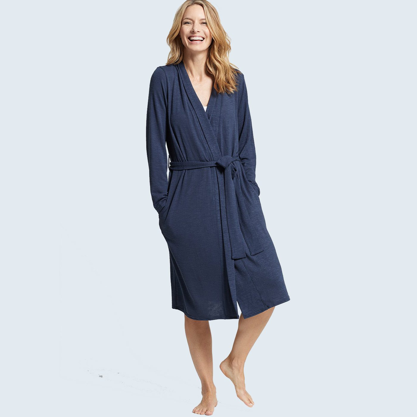 Slub Knit Midi Robe from Yummie