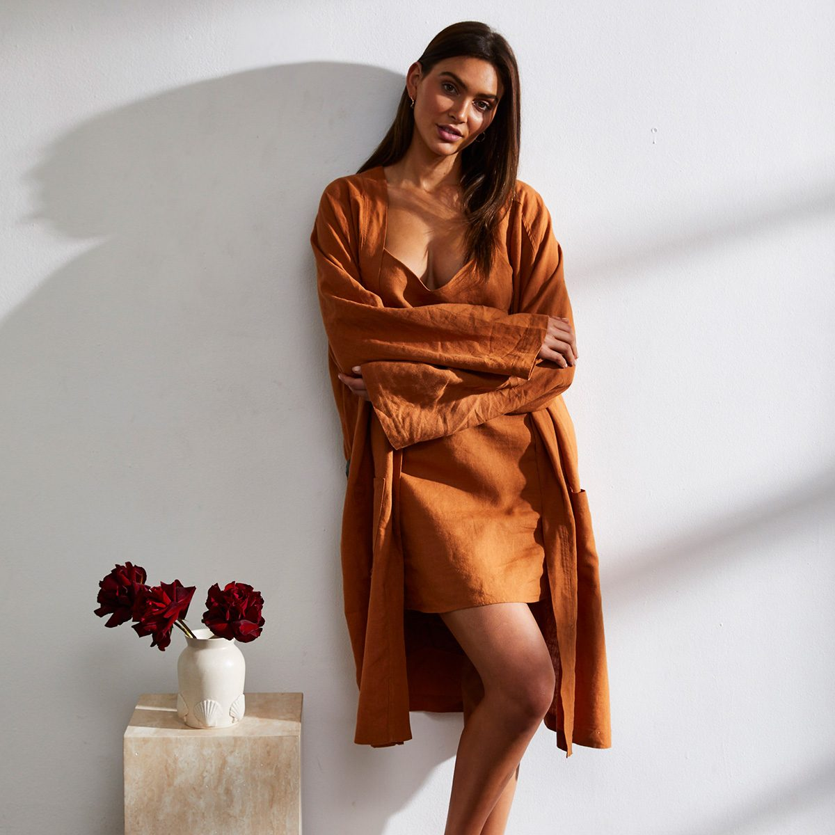 100% French Flax Linen Robe from Bed Threads