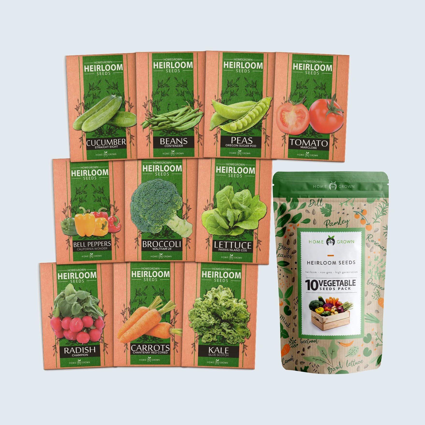 Homegrown Heirloom Vegetable Seeds