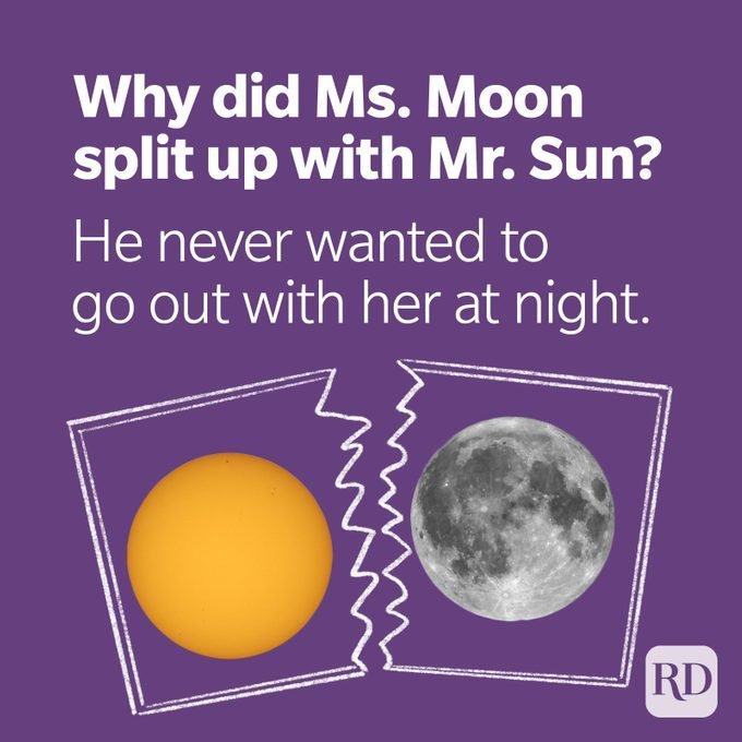 Space Puns Mr Moon Didnt Want To Go Out At Night
