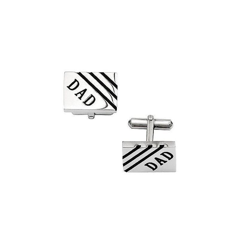 Steel By Design Men's Dad Rectangle Cuff Links
