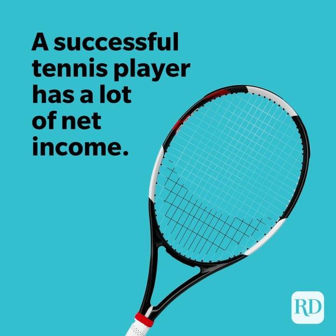 Tennis racket on blue background