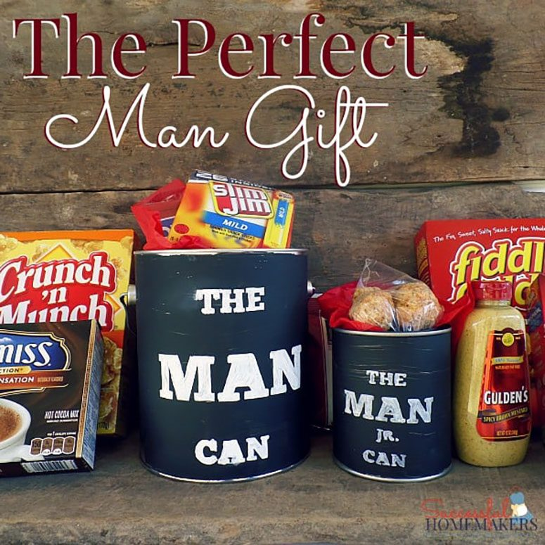 Man can perfect gift for Dad