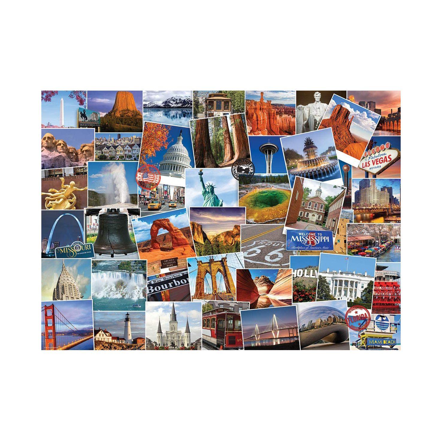 EuroGraphics USA Globetrotter 1,000-Piece Jigsaw Puzzle