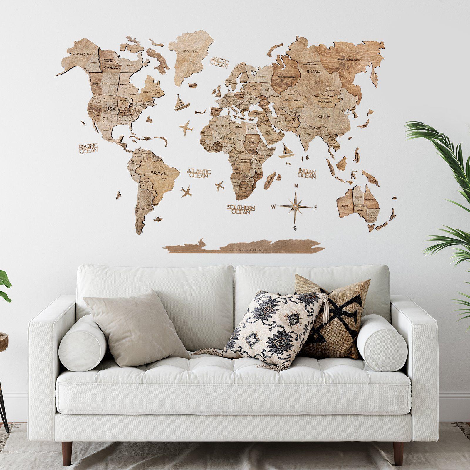 Enjoy the Wood 3D World Map
