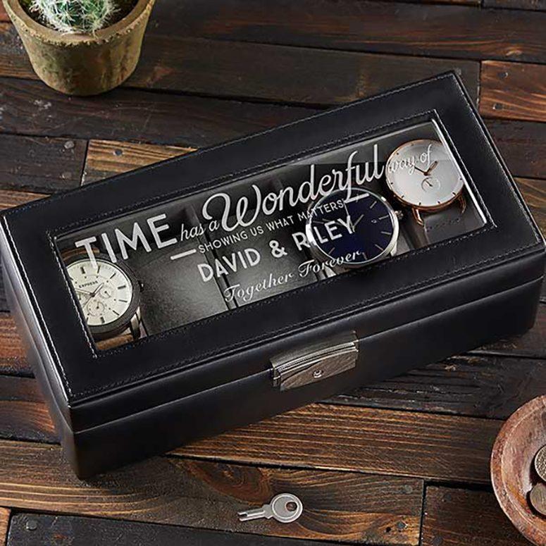 Personalization Mall Personalized Leather Watch Box