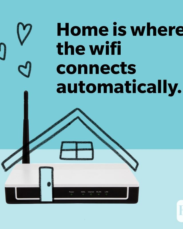 Wifi router with roof and chimney
