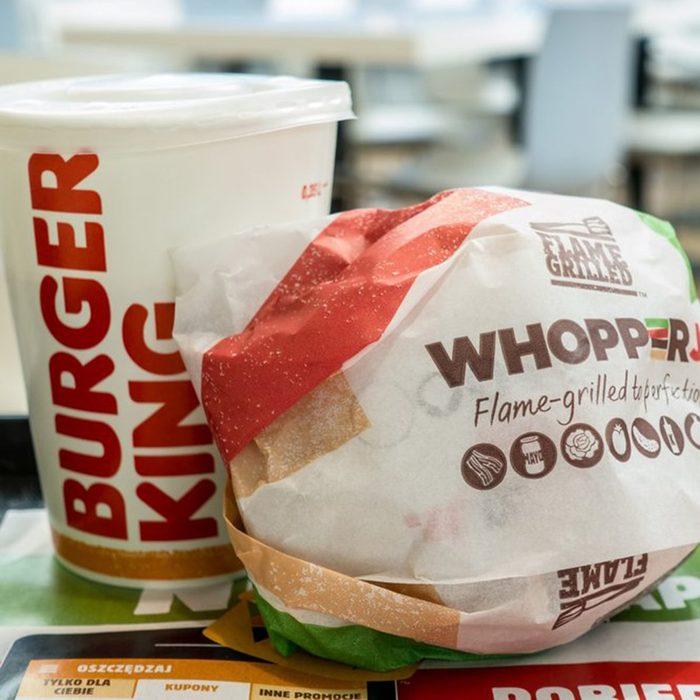 burger king Whopper And Soda