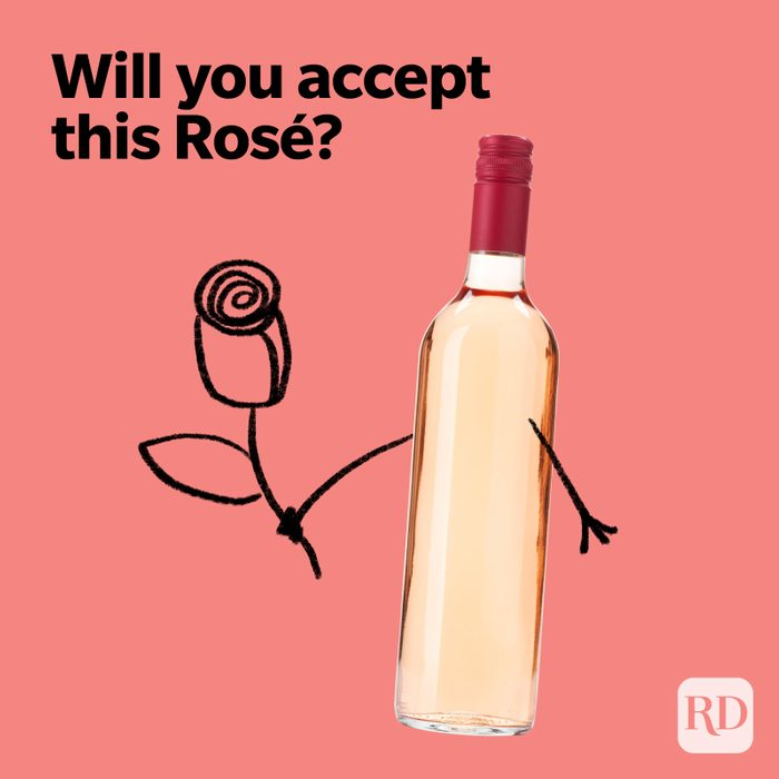 Wine Puns Will You Accept This Rose