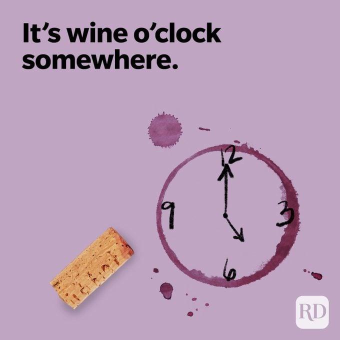 Wine Puns Wine O Clock Somewhere