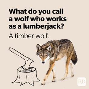Wolf Puns Lumberjack Timber Wolf