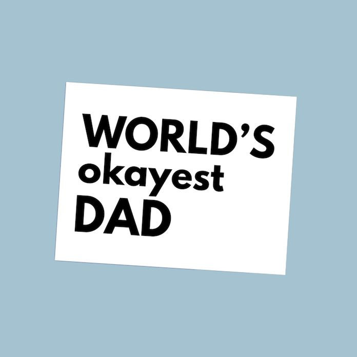 World's Okayest Dad fathers day card
