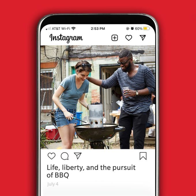 Instagram image of two people grilling