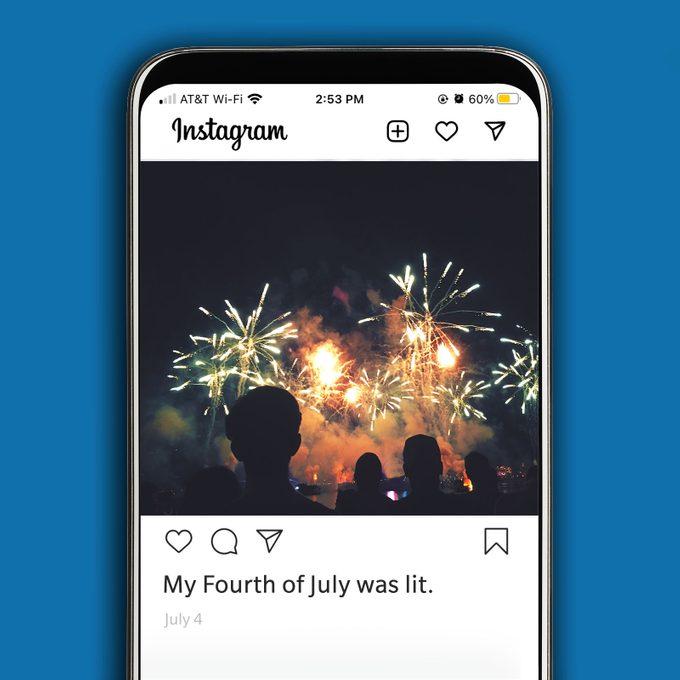 Instagram image of fireworks