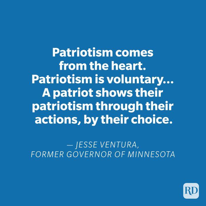 Jesse Ventura quote on blue