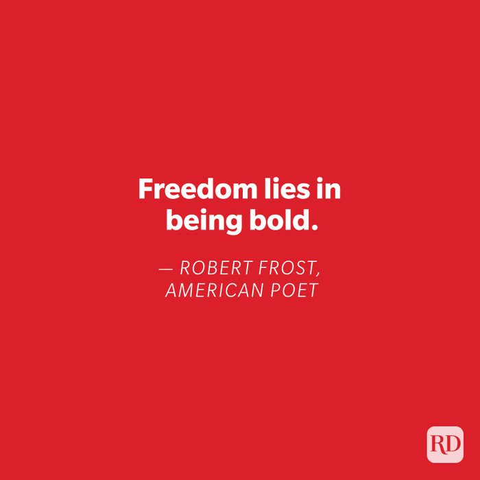 Robert Frost quote on red