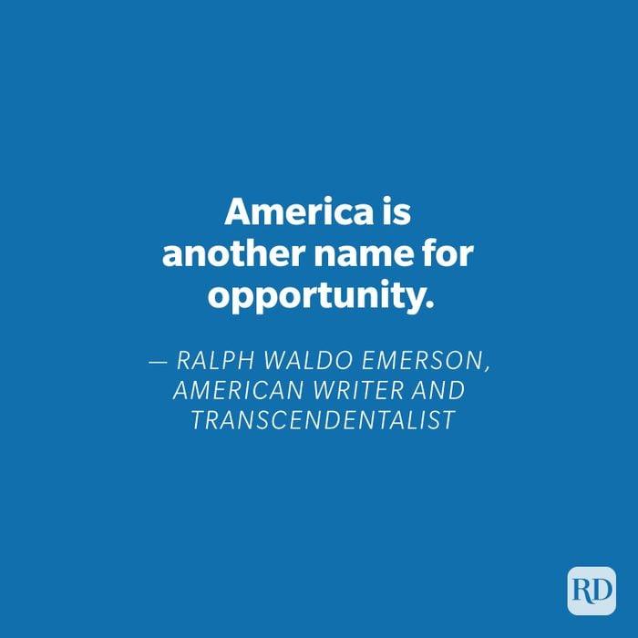 Ralph Waldo Emerson quote on blue