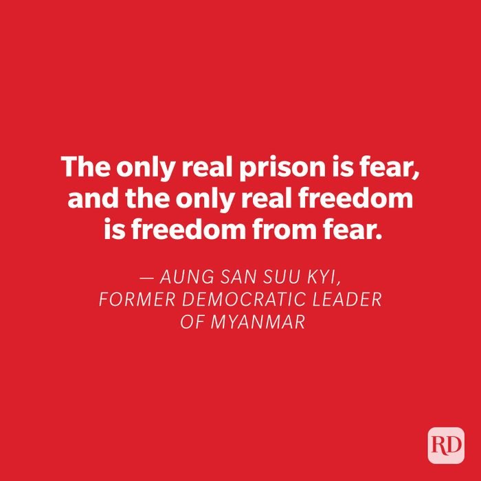 Aung San Suu Kyi quote on red