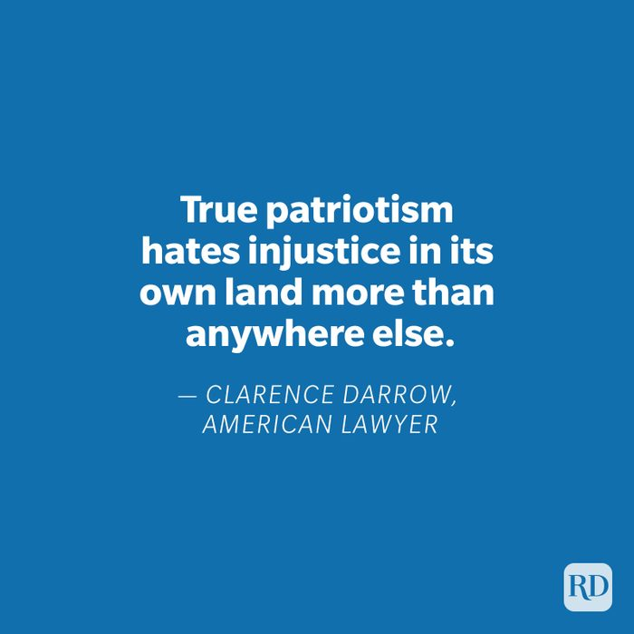 Clarence Darrow quote on blue