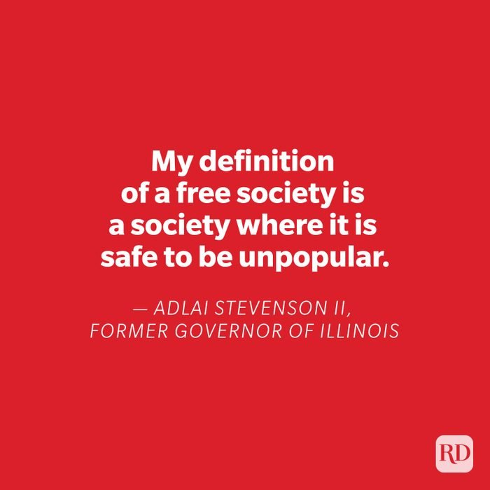 Adlai Stevenson II quote on red