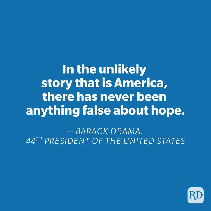 Barack Obama quote on blue