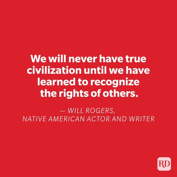 Will Rogers quote on red