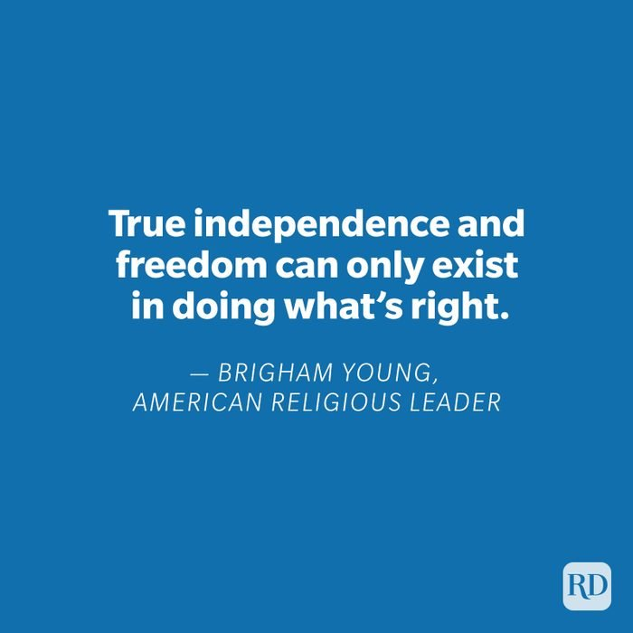 Brigham Young quote on blue