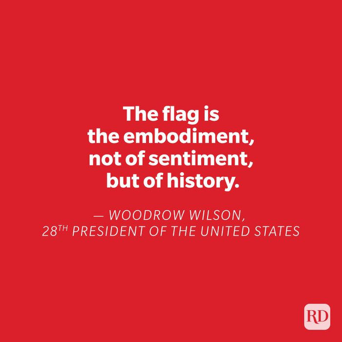 Woodrow Wilson quote on red