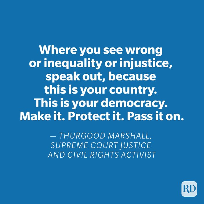 Thurgood Marshall quote on blue