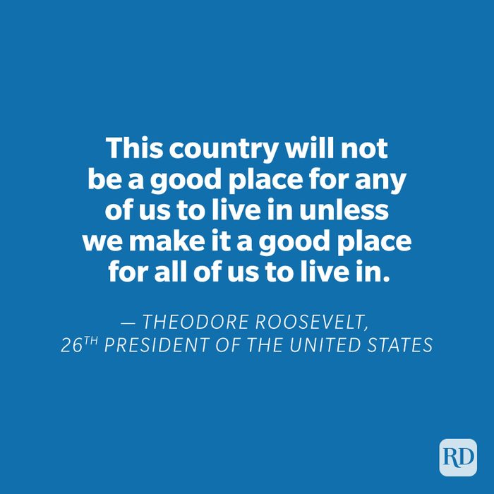 Theodore Roosevelt quote on blue