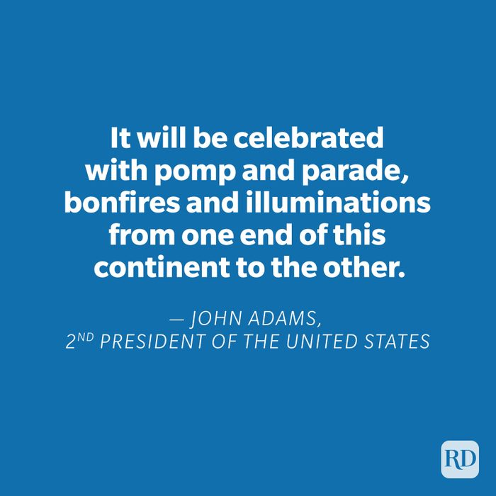 John Adams quote on blue