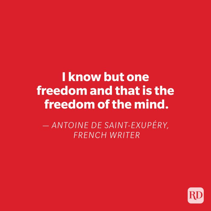 Antoine De Saint-Exupery quote on red