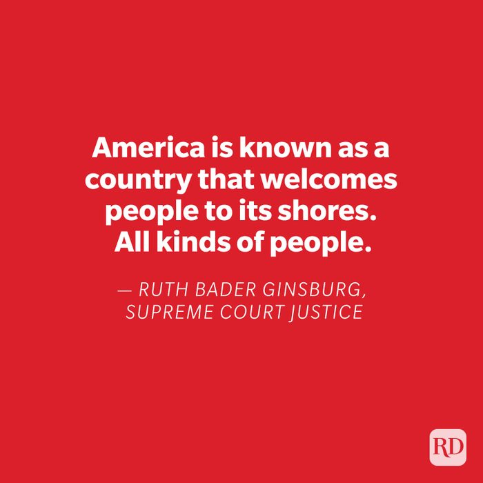 Ruth Bader Ginsburg quote on red