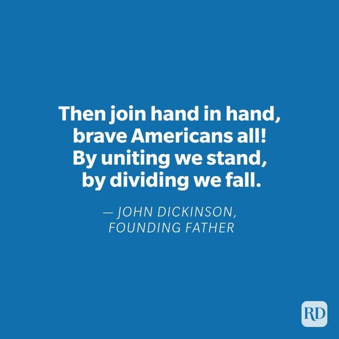John Dickinson quote on blue