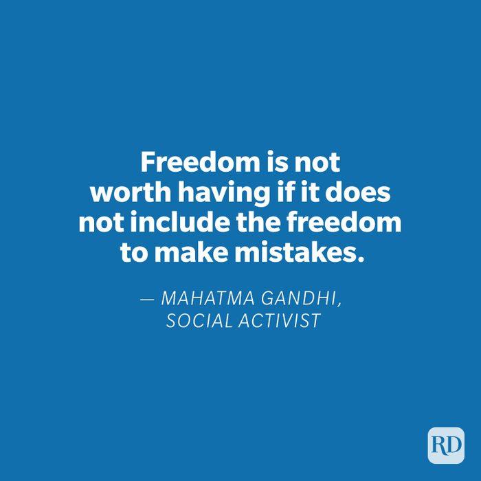 Mahatma Gandhi quote on blue