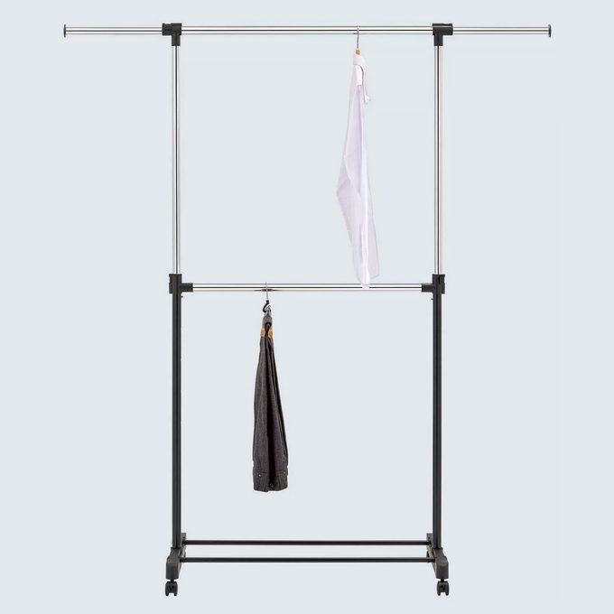 Adjustable Double Rod Garment Rack