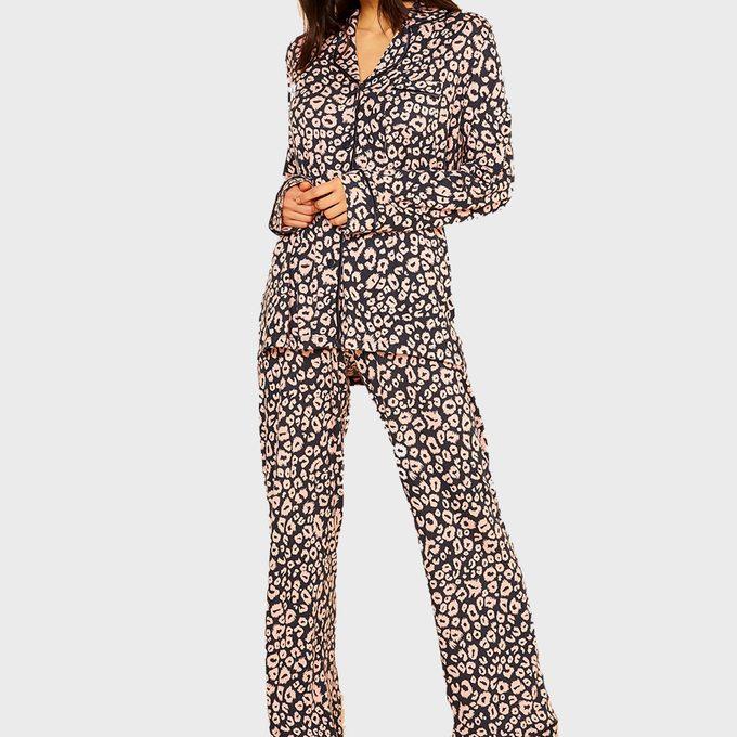 Bella Printed Long Sleeve Top And Pant Pajamas From Cosabella