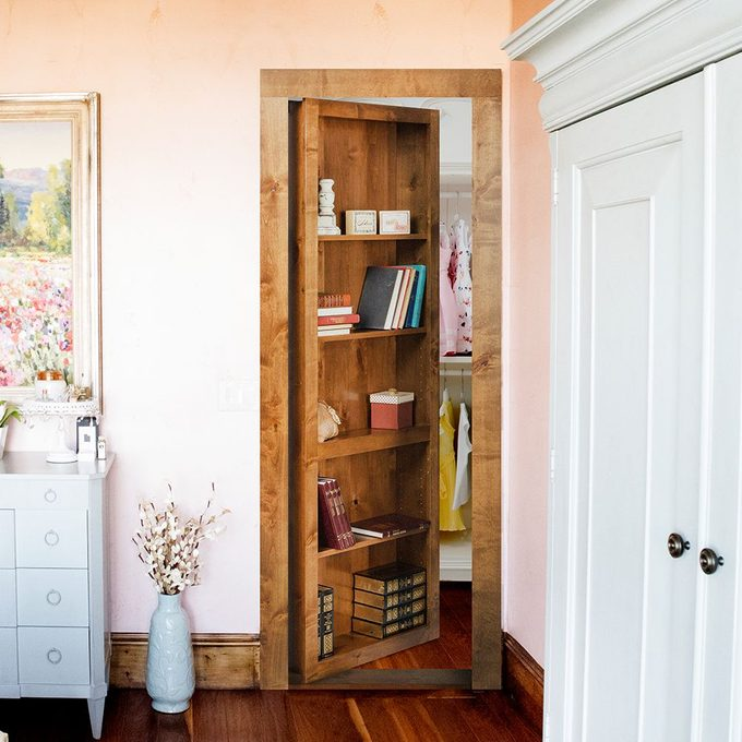 alternative closet door - Bookcase Murphy Door