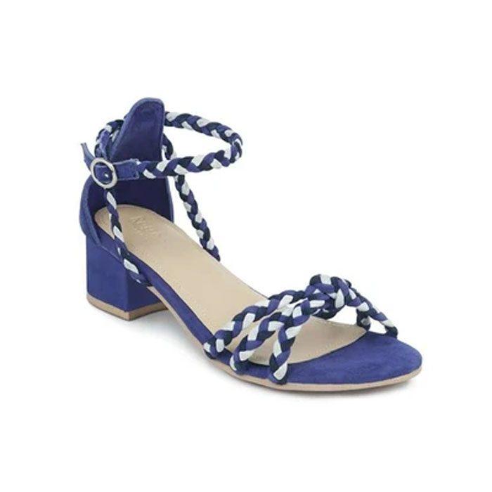 Candance Blue Block Heel Sandal