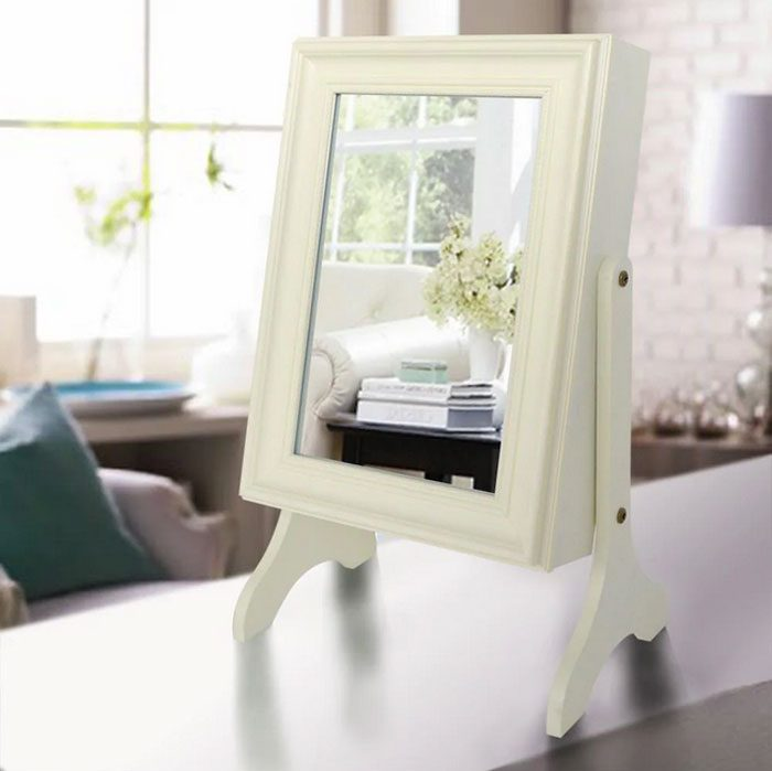 Charlotte Jewelry Armoire With Mirror