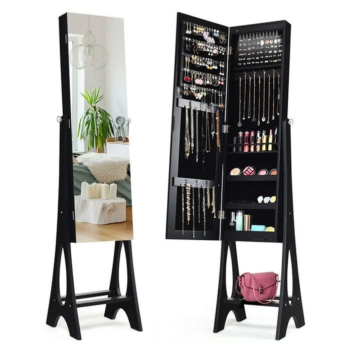 Costway Led Jewelry Armoire Cabinet